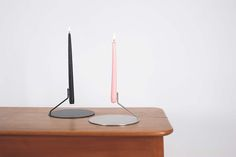 BUKA is a minimalist design created by Switzerland-based designer diiis. The design of the candleholder forces the viewer to focus attention on the candle itself. At certain angles, the candle will appear as though it is floating. The candleholder is available in either stainless steel or matte black. BUKA is handmade in Switzerland, and has a plate diameter of 200mm.