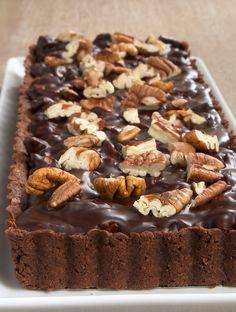 Chocolate Pecan Tart ~ http://www.bakeorbreak.com