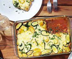 Zucchetti-Hackfleisch-Gratin Quiche, Zucchini, Fish, Meat, Vegetables, Breakfast, Recipes, Gratin, Ground Meat
