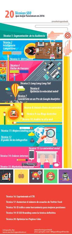 20 técnicas SEO que funcionan #infografia #infographic #seo | TICs y Formación