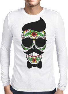 Hipster Sugar Skull - Dhaporshankh Guys Longsleeves