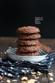 Chocolate Cornflake Pecan Cookies | Bake to the roots