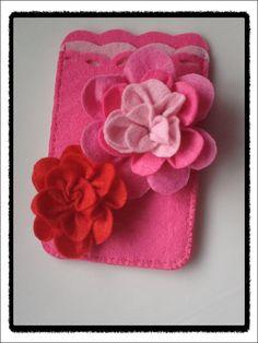 Handmade Flower Felt Lady Pink Phone Case   https://www.etsy.com/listing/100801924/handmade-flower-felt-lady-pink-phone