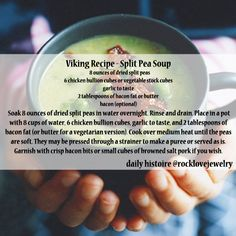 This sounds too good - I can't wait until tomorrow to post this Viking Pea Soup Recipe (WITH OPTIONAL BACON YAY!) Please share!