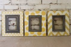 Distressed Picture Frames SET of 3 Shabby Chic by deltagirlframes, $195.00