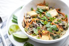 green curry with tofu and quinoa - etsy