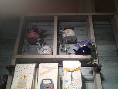 Vintage teapots as planters, another anthropologie display