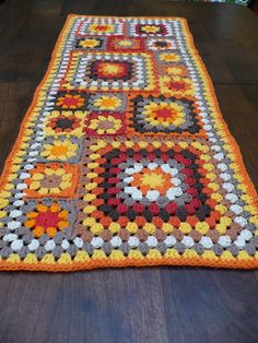 Modern Afghan Table Runner. $38.00, via Etsy.