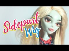 How to Make a Doll Wig | Basic Sidepart | Mozekyto #3 - YouTube