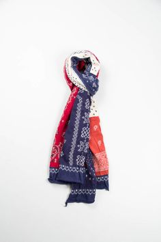 thebureaubelfast:  Kapital Red Paisley Patchwork Compressed Wool Scarf