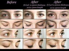 Eyelash Extensions - B Curl vs. D Curl
