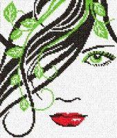 Gallery.ru / Фото #28 - рисунки - unito Cross Stitch Young Woman
