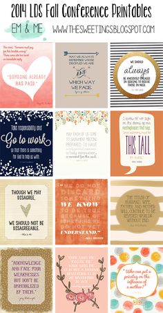 em & me: 2014 October LDS General Conference free Printables