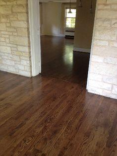 White oak hardwood flooring stained with bona medium for Hardwood floors too shiny