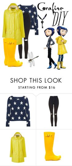 """DIY Coraline Costume"" by ashleyefrase ❤ liked on Polyvore featuring Banjo & Matilda, Topshop, halloweencostume and DIYHalloween"