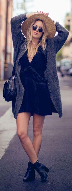 Anine Bing Black Simple Little Dress
