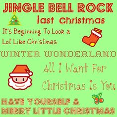 Awesome mix of classic and modern Christmas music, all with YouTube videos of the songs!