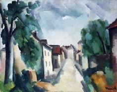 Maurice De Vlaminck, Street of Village. See The Virtual Artist gallery: www.theartistobjective.com/gallery/index