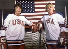 A pre-Olympics picture of the Wisconsin Badgers' Mark Johnson (L) and the late Bob Suter (R). Bob was the father of Ryan Suter of the Minnesota Wild. Olympic Hockey, Usa Hockey, Hockey Teams, Sports Teams, Us Olympics, Winter Olympics, Ryan Suter, Usa National Team, Hockey Rules