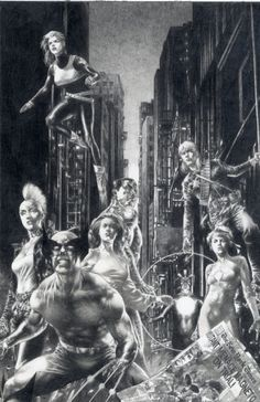 Marvels: Eye of the Camera #5 cover by Jay Anacleto. Costumes from the late '80s, early '90s era of Uncanny X-Men.