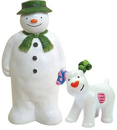 Creative Party Snowman and Snowdog Christmas Cake Topper