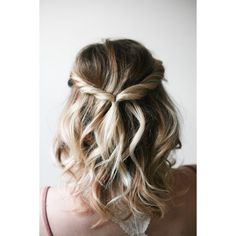 Simple Twist Hairdo-Medium Hairstyles 2016-2017 | Quoteslodge Is All... ❤ liked on Polyvore featuring hairdo's
