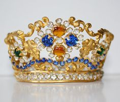 Antique French Tiara/Crown Jeweled 1900s