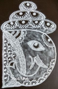 Ganesh Design, Ganesha Pictures, Pencil Drawings, Brooch, Jewelry, Art, Art Background, Jewlery, Jewerly