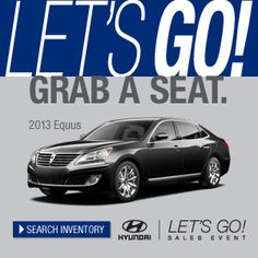 "Hyundai has an amazing ""Lets Go"" Sale going on for the remainder of April. Come down and take advantage of the deals! #Hyundai #Cars #Deals #Sales"