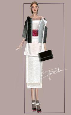 """Column"" Sketch | Stefania Belmonte | my collection | Fashion Illustration"