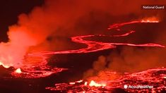 The video was filmed from a UH-60 Blackhawk by Senior Airman Orlando Corpuz for the Hawaii National Guard. It shows the lava flow and fissure eruptions from the volcano in the lower Puna area