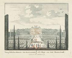 Gezicht op landhuis Clingendael te Den Haag, Pieter Schenk (I), Jan van Call (I), 1695 - 1705