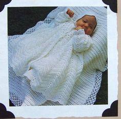 70's+Vintage+Christening+Coat+&+Bonnet+by+SewKnitandCrochet,+$12.75