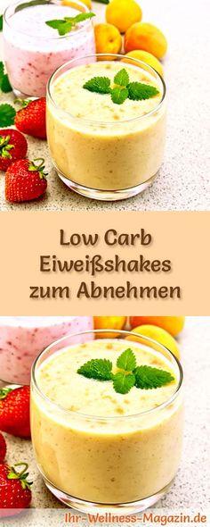 105 Rezepte für selbstgemachte Eiweißshakes - Gesunde Low-Carb-Eiweiß-Diät-Rezepte für Frühstücks-Smoothies und Proteinshakes - ohne Zusatz von Zucker, kalorienarm, gesund ... #eiweiß #eiweissshake #lowcarb #smoothie #abnehmen