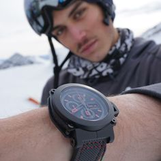 Our ambassador Elias Ambühl wearing a Formex This chronographe embodies speed, performance and adrenaline. A Team, Smart Watch, Athlete, Watches, Stylish, How To Wear, Smartwatch, Wristwatches, Clocks