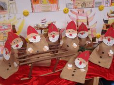 ARGE small schools in Vorarlberg:> Textile works Christmas Tops, Christmas Crafts For Kids, Xmas Crafts, Christmas Ornaments, Diy Air Dry Clay, Saint Nicholas, How To Grill Steak, Textiles, Small Gifts