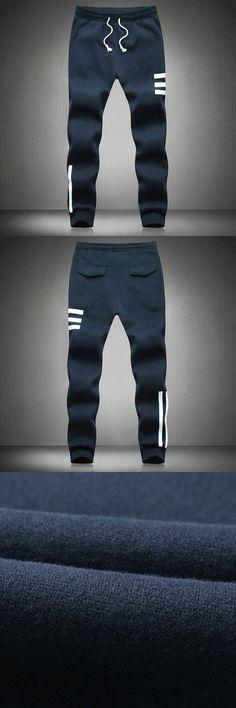 Harem Pants New Style Fashion 2016 Casual stripe Sweatpants  Pants Trousers pants feet Long Pants Men Joggers M-5XL