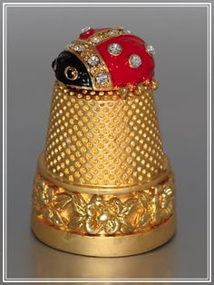 RP: Solid Gold Lady Bug Top Thimble