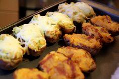 toltott-burgonya Hungarian Recipes, My Recipes, Cauliflower, Side Dishes, Vegetables, Minden, Food, Cauliflowers, Essen