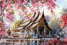 Watercolor Paintings by Thanakorn Chaijinda