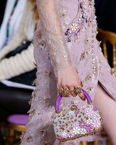 GEORGES HOBEIKA Couture bejewels your lavender dreams! #georgeshobeika…