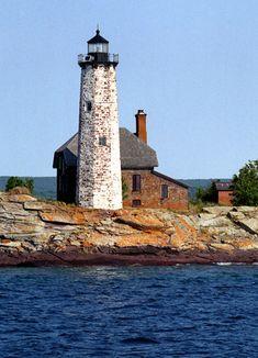 Isle Royale (Menagerie Island) Lighthouse, Lake Superior, Michigan USA