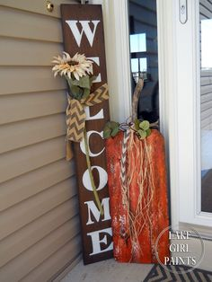 Fall calls for a craft party! So the family girls gathered and we made planked pumpkin art! We mad. Fall Wood Crafts, Thanksgiving Crafts, Holiday Crafts, Holiday Fun, Diy Crafts, Holiday Ideas, Wood Pumpkins, Fall Pumpkins, Fall Halloween