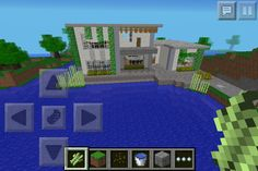 Minecraft house | pocket edition. I built this myself. Supposed to be a modern-type house.