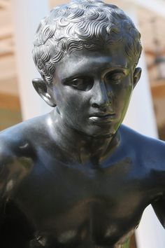 Seated Hermes, Reproduction of a Roman bronze sculpture from the first century A.D. found in the Villa dei Papiri, Herculeneum, Getty Villa, Malibu, USA9