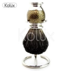 #Classic old #antique style black #badger mens shaving brush + free brush holder,  View more on the LINK: http://www.zeppy.io/product/gb/2/222073163331/