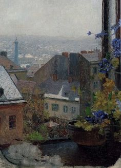 CARL MOLL The View from Schindler's Window (1886)