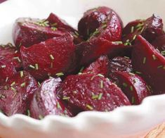 Roasted Beets with White Balsamic & Citrus Dressing Recipe