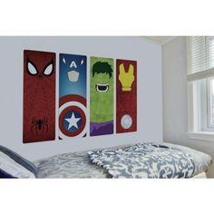 Adesivo Super Heróis Marvel Minimalista, Adesivos Games Personagens, Decoração Quarto Infantil, Adesivos Criativos, Super-Heróis | Diseño