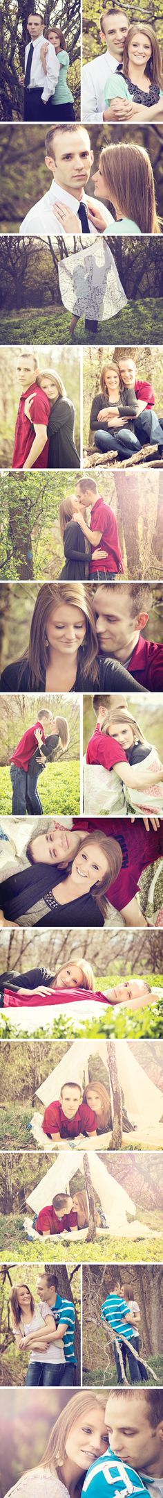 Engagement Shoot-Lace tent, field inspired session-Blackbird Design and Photography